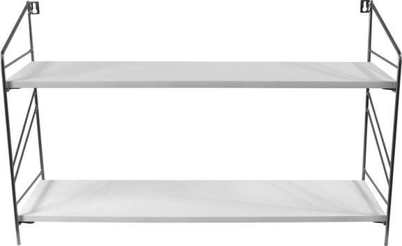 Falipolc Remus - Fehér, modern, Faalapú anyag (70/42/22cm)