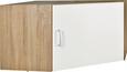 Sarokszekrény Rátét Tio - Tölgyfa/Fehér, konvencionális, Faalapú anyag (80/80cm)