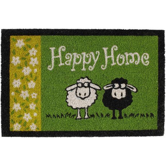 Fußmatte Happy Home ca. 40x60cm - Grün, Textil (40/60cm) - Mömax modern living