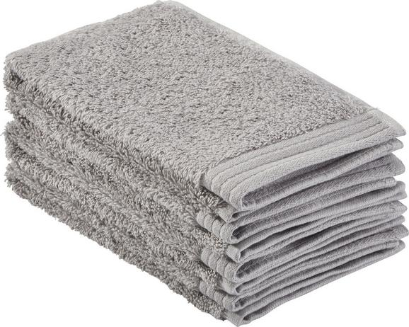 Gästetuch Dolly 30x50cm - Hellgrau, KONVENTIONELL, Textil (30/50cm) - MÖMAX modern living