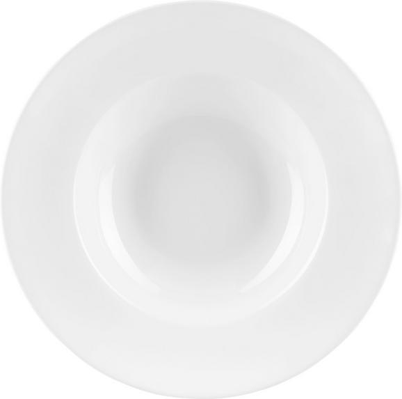 Pastateller Adria aus Porzellan Ø ca. 27cm - Weiß, Keramik (27cm) - Mömax modern living