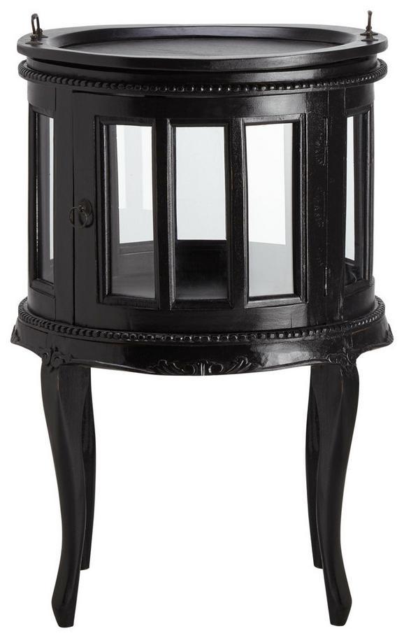 Beistelltisch In Mahagoni/Schwarz - Schwarz, MODERN, Glas/Holz (49/75/49cm) - Mömax modern living