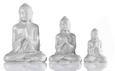 Dekoráció Ülő Buddha - Szürke/Fehér, Lifestyle, Kerámia (14cm) - Mömax modern living