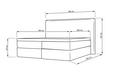 Boxbett Lucy ca.180x200cm inkl. Topper - Grau, MODERN, Holz/Textil (205/186/103cm) - Mömax modern living