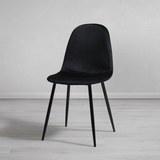 Stuhl Lio - Schwarz, MODERN, Holz/Textil (43/86/55cm) - Modern Living