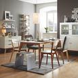 Étkezőasztal Durham - Barna/Fehér, modern, Faalapú anyag/Fa (180/76/90cm) - Mömax modern living