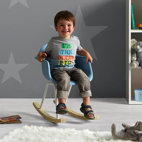 Kinder-schaukelstuhl Bobby - Blau, MODERN, Holz/Kunststoff (41,5/60/54cm) - Mömax modern living