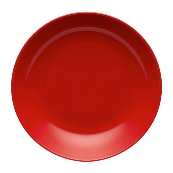Suppenteller Sandy in Rot aus Keramik - Rot, KONVENTIONELL, Keramik (20/3,5cm) - Mömax modern living