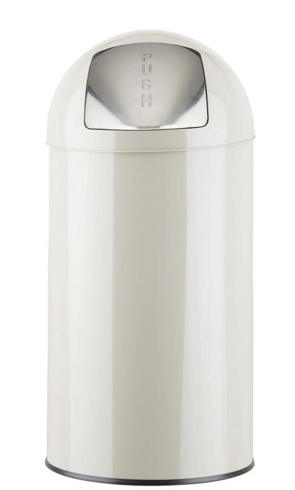 Koš Za Smeti Push Can - L - cink/svetlo siva, kovina (35/76cm) - Mömax modern living