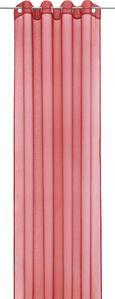 Ösenvorhang Dolly, ca. 140x245cm - Anthrazit/Rot, Textil (140/245cm) - Mömax modern living