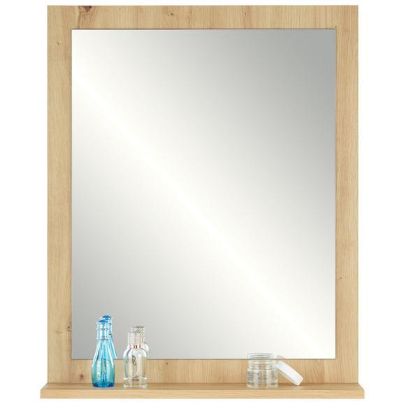 Badezimmerspiegel Santino II in Eichefarben - Eichefarben, MODERN, Holzwerkstoff (59/73/14cm)
