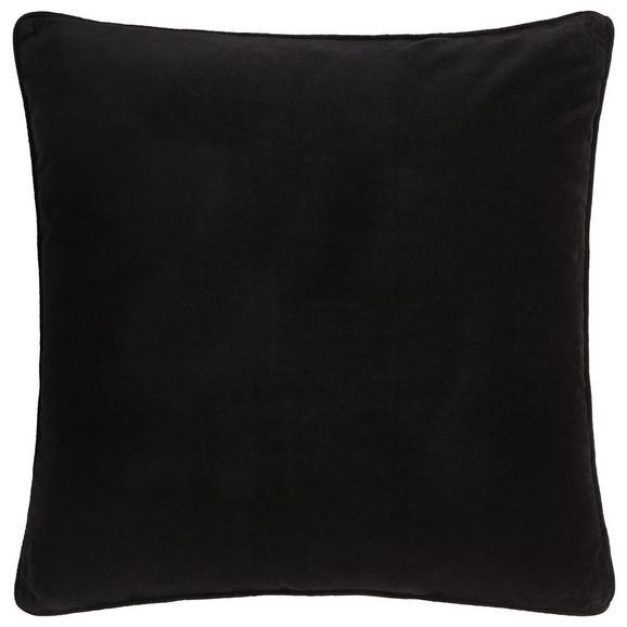 Zierkissen Susan aus Samt ca. 60x60cm - Schwarz, Textil (60/60cm) - Mömax modern living