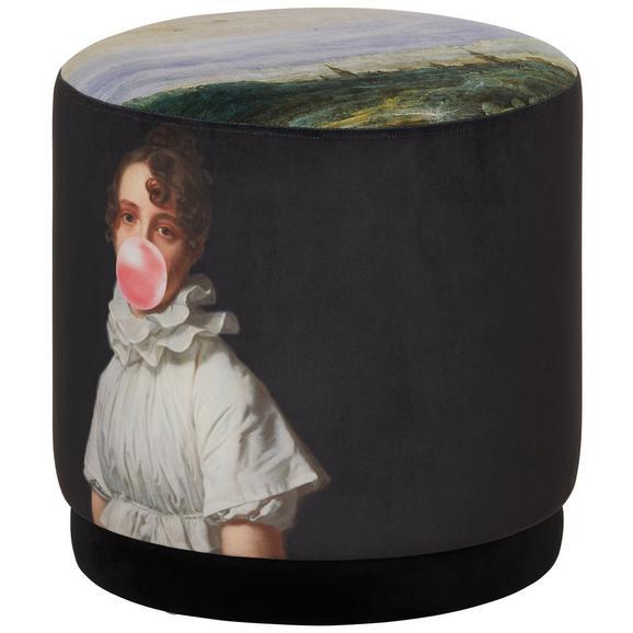 Taburet Dorothea - multicolor, Konventionell, textil (40/40/40cm)