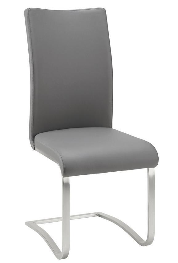 Nihajni Stol Arco I - siva/nerjaveče jeklo, Moderno, kovina/tekstil (52/103/43cm) - Premium Living