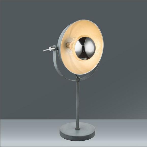 Tischleuchte Blanche in Grau, max. 60 Watt - Grau, LIFESTYLE, Metall (18/56cm) - Mömax modern living