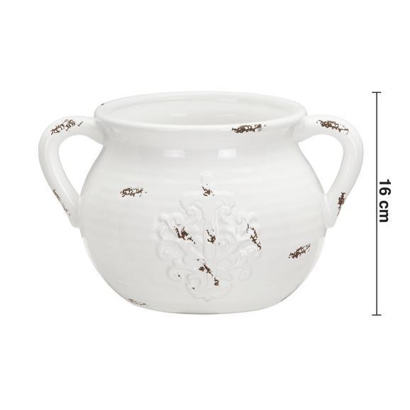 Dekokrug Euphoria Antik aus Dolomit - Weiß, ROMANTIK / LANDHAUS, Keramik (27,5/21/16cm) - Bessagi Home
