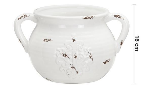 Dekokrug Euphoria Antik Aus Dolomit - Weiß, ROMANTIK / LANDHAUS, Keramik (27,5/21/16cm) - Mömax modern living