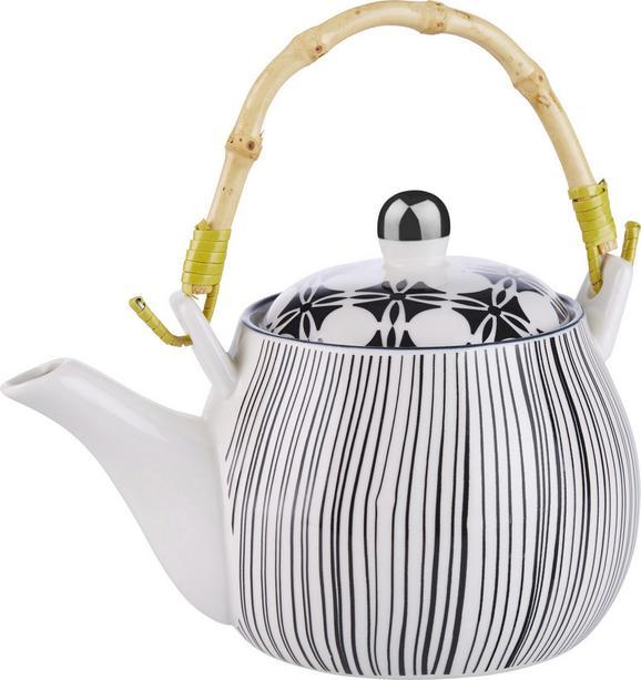 Vrč Za Čaj Shiva - črna/bela, Trendi, keramika (18/11cm) - MÖMAX modern living