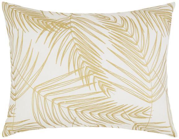 Zierkissen Laguna Weiß/gold 40x50cm - Goldfarben/Weiß, Textil (40/50cm) - Mömax modern living