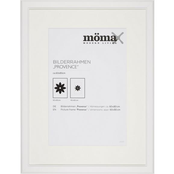 Bilderrahmen Provence, ca. 60x80cm - Weiß, ROMANTIK / LANDHAUS, Glas/Holz (60/80cm) - Mömax modern living