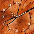 Wanduhr Annual Rings, ca. 30x30x3,5cm - Naturfarben, KONVENTIONELL, Glas/Metall (30/30/3,5cm)