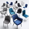 Stuhl Enna - Schwarz, MODERN, Textil/Metall (48/85/58cm) - Bessagi Home