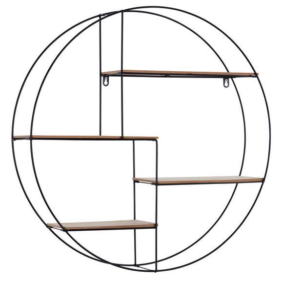 Raft De Perete Rom 1 - culoare coconar/negru, Modern, compozit lemnos/metal (70/70/15cm)
