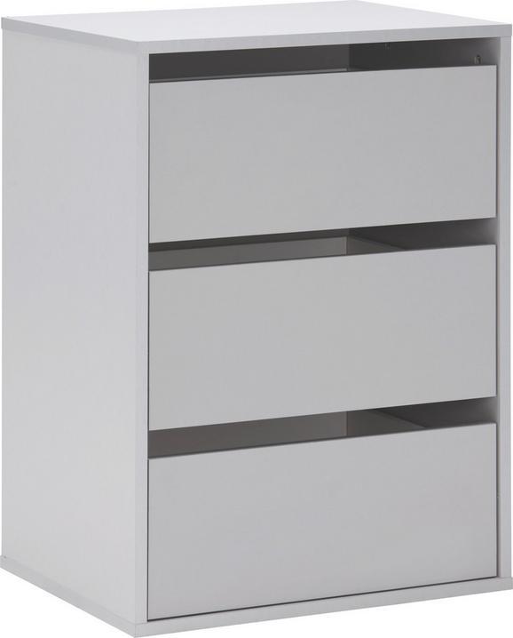 Schubkasteneinsatz Grau - Grau, Holz/Kunststoff (51/70,6/39,6cm)