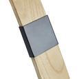 Stehleuchte max. 40 Watt 'Nerea' - Schwarz/Naturfarben, MODERN, Holz/Metall (90/22/150cm) - Bessagi Home