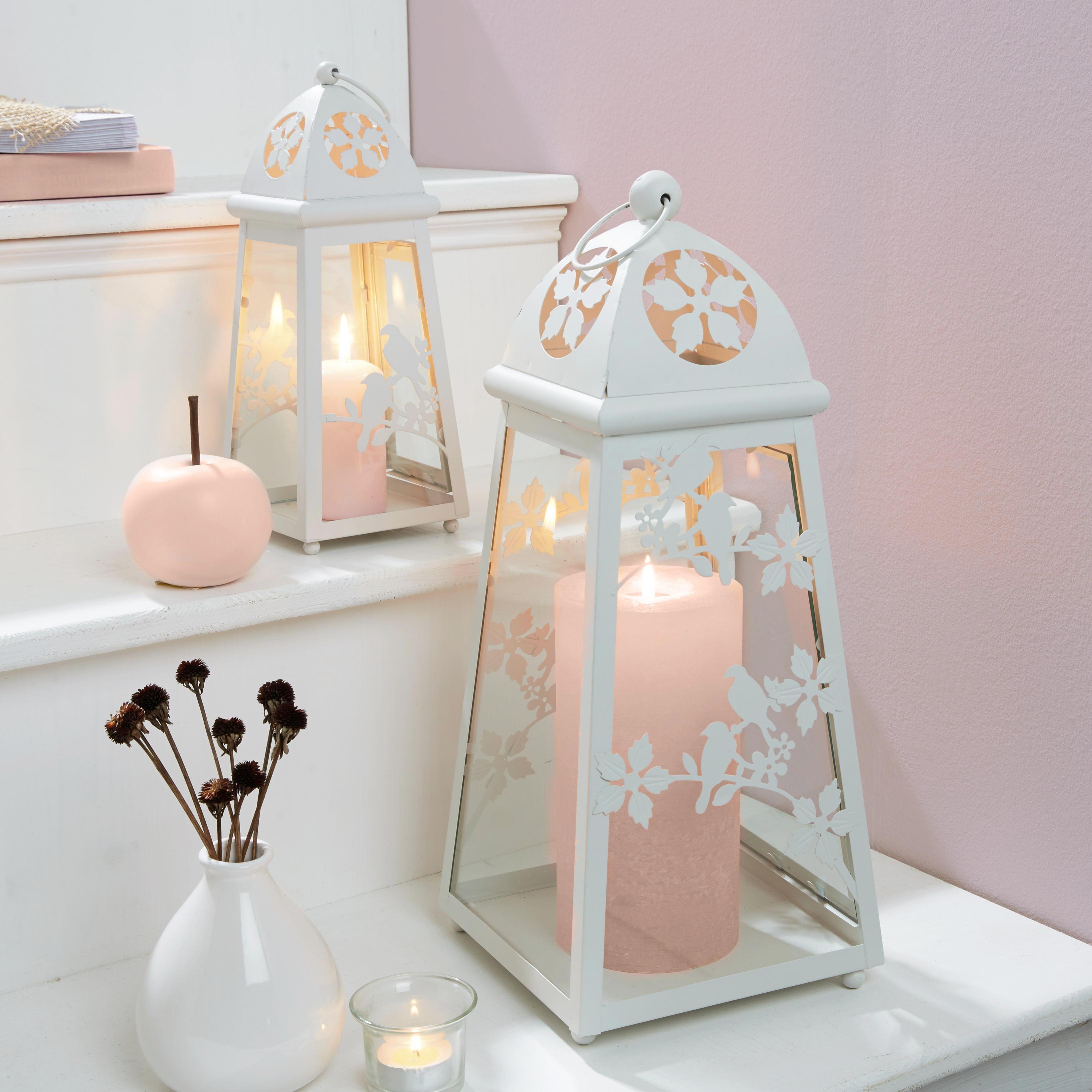 Lámpás Helga - fehér, üveg/fém (18,5/18,5/43,5cm) - MÖMAX modern living