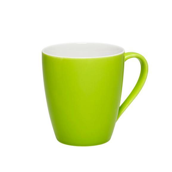 Becher Sandy in Grün aus Keramik - KONVENTIONELL (8,9/10cm) - MÖMAX modern living