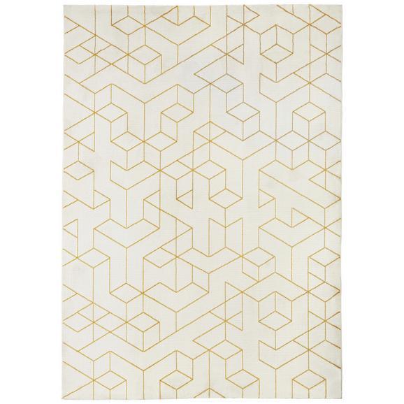 Webteppich Berlin Gelb/Weiß 120x170cm - Gelb/Weiß, Textil (120/170cm) - Mömax modern living