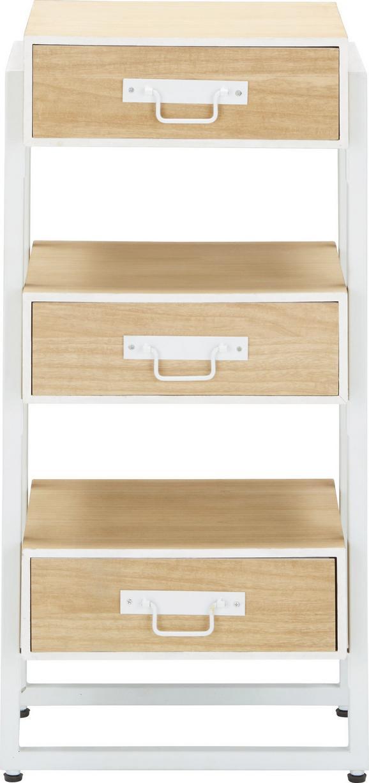 Kommode in Braun/Weiß - Weiß/Braun, MODERN, Holz/Holzwerkstoff (39/81/30cm)