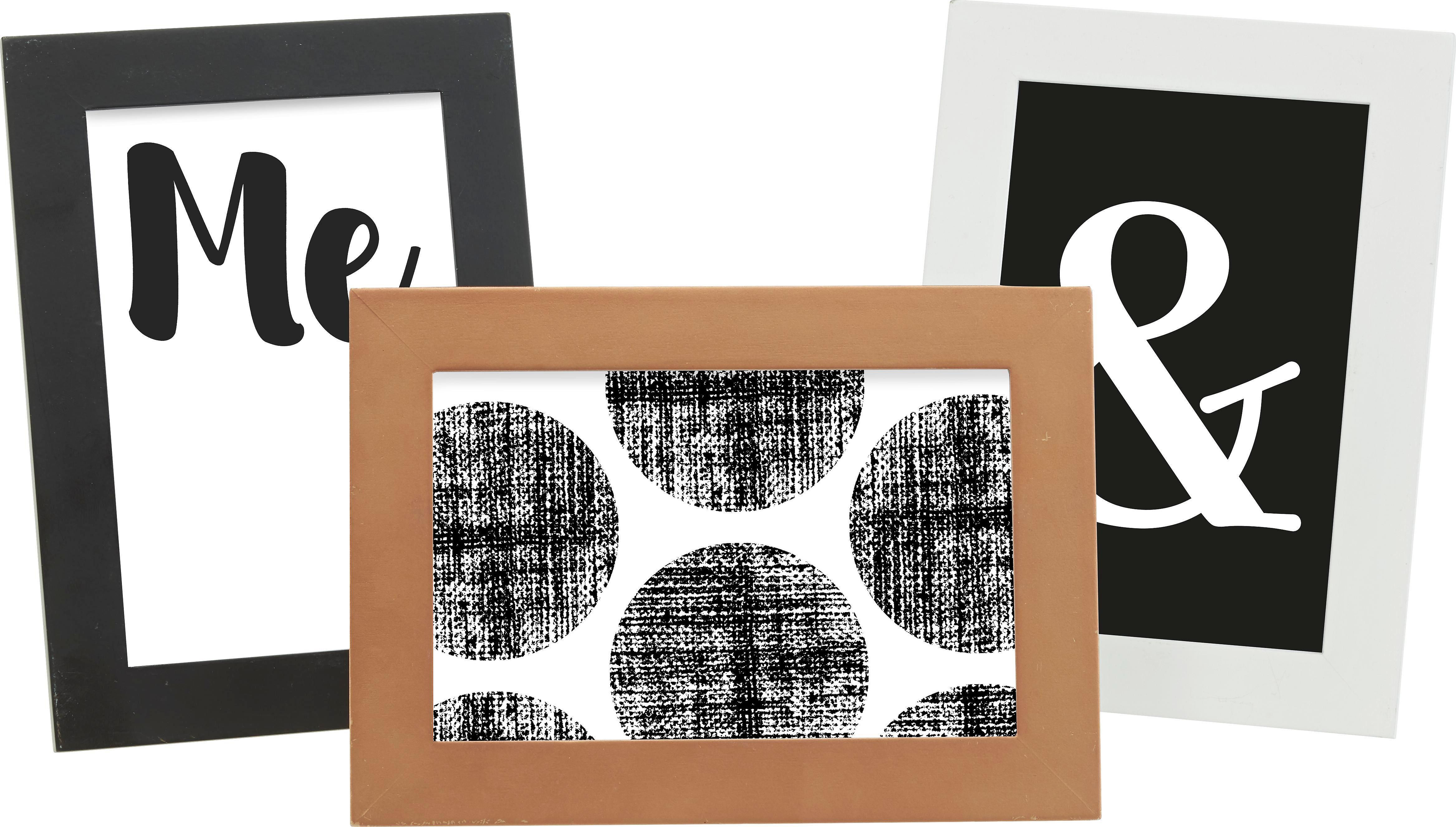 Bilderrahmen Celina ca. 10x15cm - Petrol/Rosa, KONVENTIONELL, Holzwerkstoff/Kunststoff (18,2/13,2/0,935cm) - MÖMAX modern living