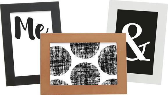 Bilderrahmen Celina ca. 10x15cm - Rosa/Weiß, KONVENTIONELL, Holzwerkstoff/Kunststoff (18,2/13,2/0,935cm) - Mömax modern living