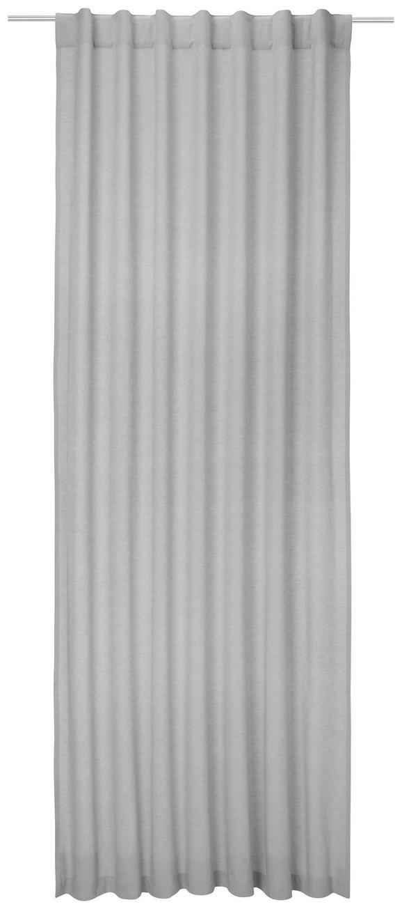Zavesa Z Zankami Ella - svetlo siva, Moderno, tekstil (140/255cm) - Premium Living