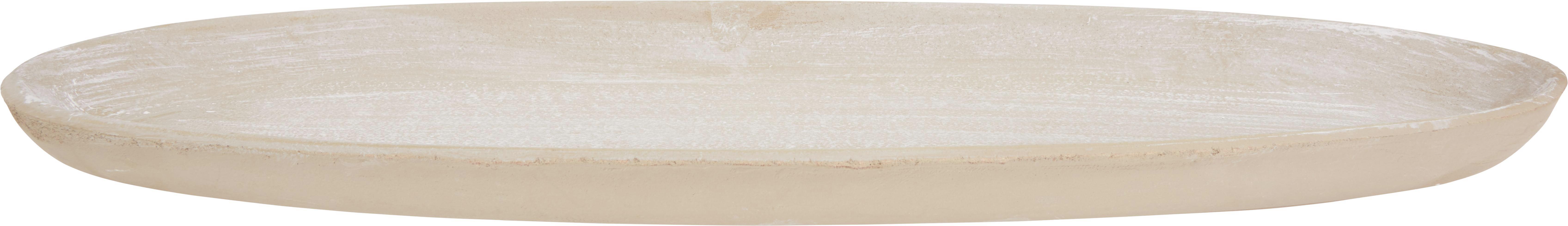 Dísztányér Dana - fehér, romantikus/Landhaus, fa (52/18/3cm) - MÖMAX modern living