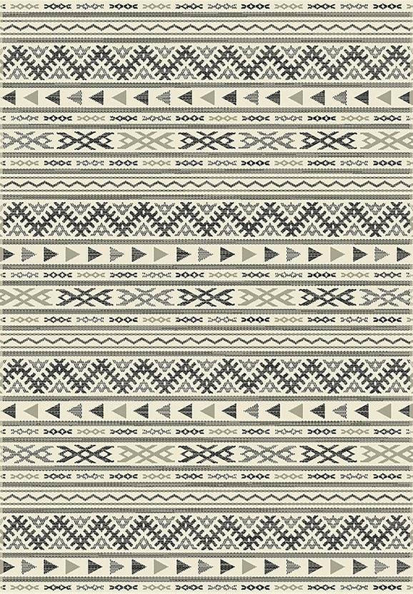 Flachwebeteppich Kelim Schwarz/Natur 80x250cm - Hellgrau/Schwarz, MODERN, Textil (80/250cm) - Mömax modern living