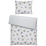 Bettwäsche Ginko in Weiß ca. 140x200cm - Hellblau, MODERN, Textil (140/200cm) - Mömax modern living