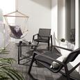 Hängesessel Karo - Grau, MODERN, Holz/Textil (100/100/58cm) - Bessagi Garden