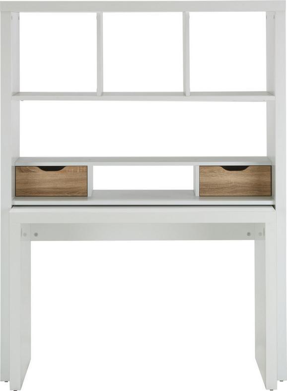 Schreibtisch Weiß/Eiche - Eichefarben/Weiß, MODERN, Holzwerkstoff (117,2/156,6/45cm)