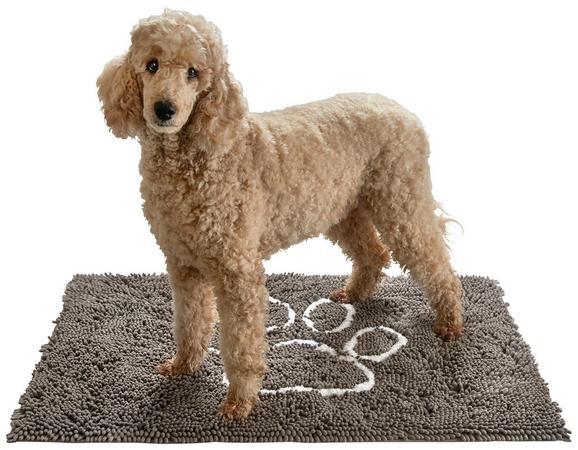 Predpražnik Doggy - siva/bela, tekstil (70/100cm) - Mömax modern living