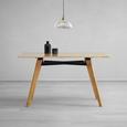 Tisch Piet Echtholz ca. 135x80 cm - Buchefarben, MODERN, Holz (135/80/75cm) - Modern Living