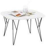 Couchtisch in Schwarz/Weiß - Schwarz/Weiß, MODERN, Holzwerkstoff/Metall (70/45/70cm) - Modern Living