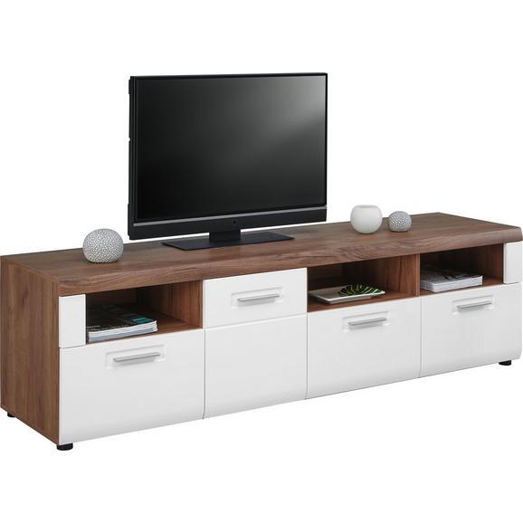 Tv-element Avensis - aluminij/črna, Moderno, umetna masa/leseni material (190/51/49,6cm) - Mömax modern living