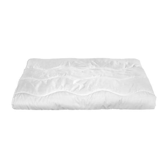 Einziehdecke Zilly in Weiß ca. 200x200cm - Weiß, Textil (200/200cm) - Nadana