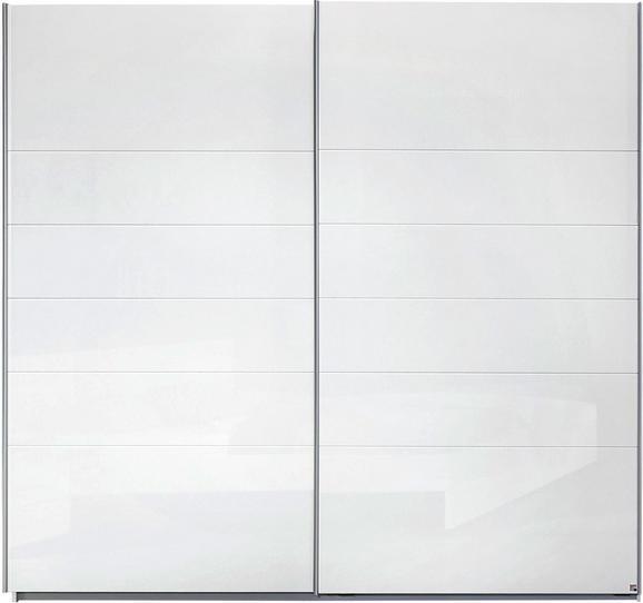 Schwebetürenschrank Weiß - Alufarben, MODERN, Holzwerkstoff/Metall (225/210/62cm) - Modern Living