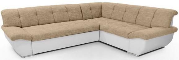 Sedežna Garnitura Axel Ii - svetlo rjava/bela, Moderno, tekstil (195/260cm) - Mömax modern living