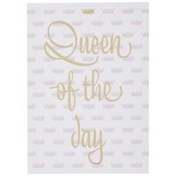 Postkarte Queen of the day - Goldfarben/Rosa, MODERN, Papier (10,5/14,8cm)