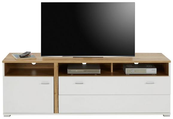 TV-Element in Eichefarben - Chromfarben/Eichefarben, MODERN, Holzwerkstoff/Metall (160/54/47cm) - Modern Living